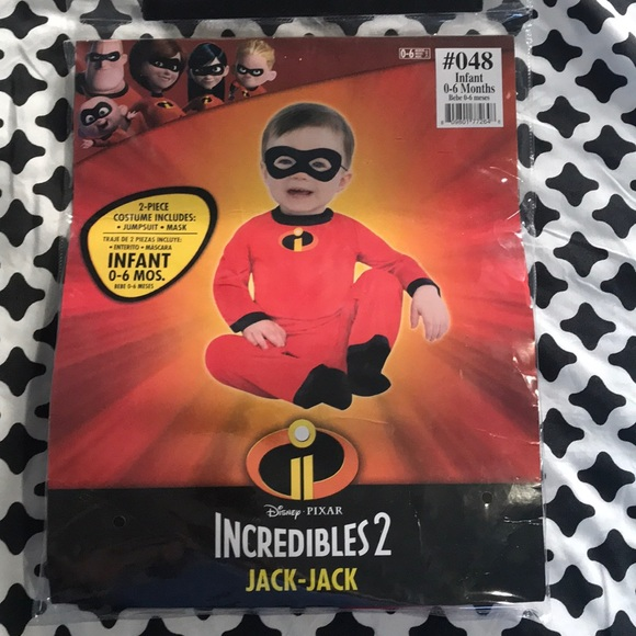 Jack Infant Baby 0-6 12-18 Months Disney Baby New The Incredibles Costume Jack